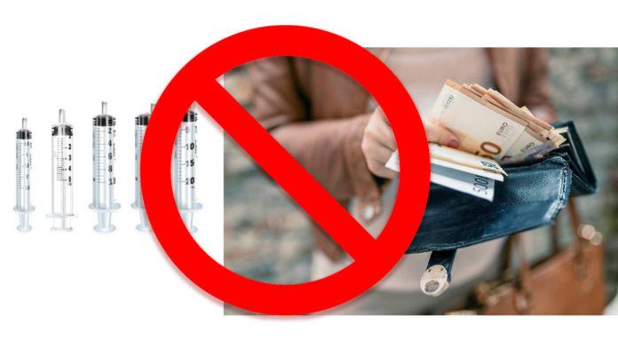 La nostra proposta: gettiamo banconote e siringhe, sono pericolosissime!